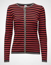 Saint Tropez Knit Cardigan With Stripes
