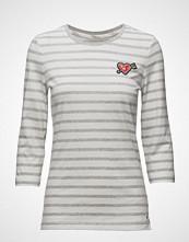 Tommy Hilfiger Stripe Heart Badge Tee 3/4 Slv