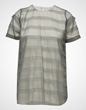 Cathrine Hammel Striped Tulle Tee-Shirt T-shirts & Tops Short-sleeved Grønn CATHRINE HAMMEL