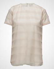 Cathrine Hammel Striped Tulle Tee-Shirt T-shirts & Tops Short-sleeved Rosa CATHRINE HAMMEL