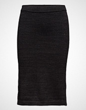 Maison Scotch Cotton Lurex Knitted Pencil Skirt