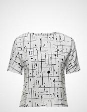 Gant G1. Grid Drip Printed Top
