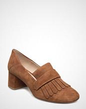 Mango Fringed Leather Loafers