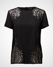 French Connection Gilly Lace Ss Rdnk Top