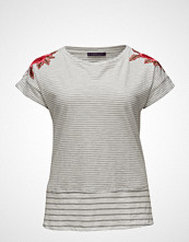 Violeta by Mango Embroidery Striped T-Shirt