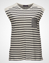 Violeta by Mango Chest-Pocket Striped T-Shirt