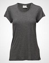 Kaffe Anna O-Neck T-Shirt T-shirts & Tops Short-sleeved Grå KAFFE