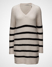 Scotch & Soda Home Alone Oversized V-Neck Hairy Striped Knit