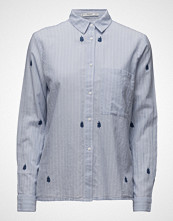 Mango Embroidered Cotton Shirt
