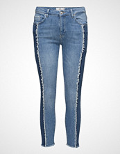 Mango Relaxed Crop Contrast Jeans