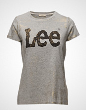 Lee Jeans Foil Logo Tee Grey Mele