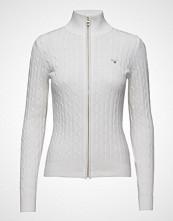 Gant Stretch Cotton Cable Zip Cardigan