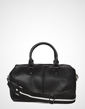 Mango Contrast-Strap Pebbled Bag