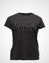Violeta by Mango Textured Message T-Shirt