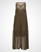 Rabens Saloner Gold Line Tank Dress