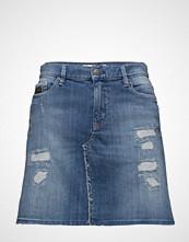 Odd Molly Stretch-N-Raw Jeans Skirt