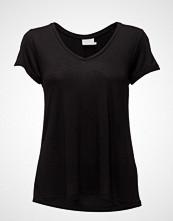 Kaffe Anna V-Neck T-Shirt T-shirts & Tops Short-sleeved Svart KAFFE