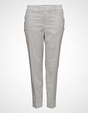Violeta by Mango Striped Cotton Trousers