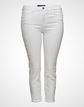 Violeta by Mango Laser-Cut Slim Crop Jeans