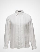 Violeta by Mango Linen-Blend Trimmed Shirt