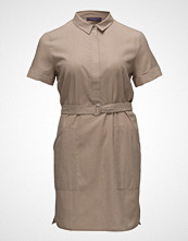 Violeta by Mango Belt Linen Dress