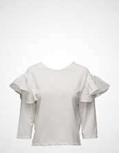 Mango Ruffled Sleeve T-Shirt