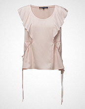 French Connection Nia Drape Fluted Front Top