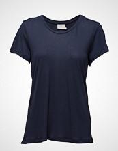 Kaffe Anna O-Neck T-Shirt T-shirts & Tops Short-sleeved Blå KAFFE
