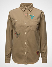 Hilfiger Collection Washed Shirt Jkt Langermet Skjorte Beige HILFIGER COLLECTION