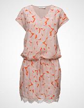 Coster Copenhagen Leaf Print Dress W. Lace