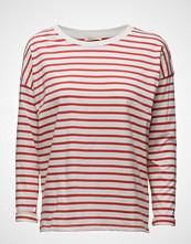 Lee Jeans Ls Stripe Tee Faded Red