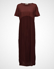 Rabens Saloner Jersey Solid Long Dress