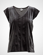 Saint Tropez Velvet Blouse With V-Neck