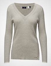 Gant Ribbed Cotton V-Neck