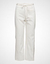 Mango White Straight Jeans
