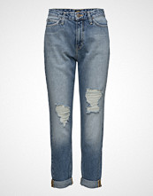 Lee Jeans Mom Straight Trashed Stone