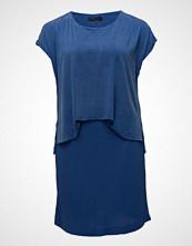 Violeta by Mango Contrast Cupro Dress