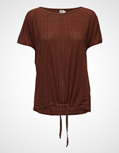 Saint Tropez Pleated Jersey Top