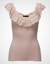 Rosemunde Silk Top Regular Ss W/Wide Lace