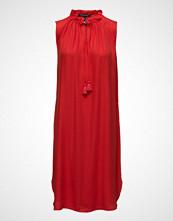 Scotch & Soda Sleeveless Dress With Ruffle Neckline And Ruffle Inserts