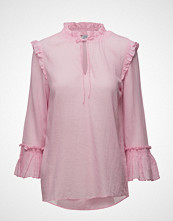 Saint Tropez Blouse With Smock And Ruffles