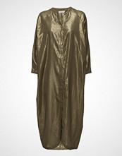 Rabens Saloner Golden Long Shirt Dress
