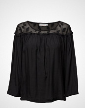 Coster Copenhagen Top W. Leaf Fabric And Wrinkel