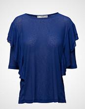 Mango Ruffles Ribbed T-Shirt