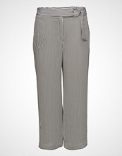 Violeta by Mango Striped Crop Trousers