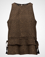 Scotch & Soda Silky Feel Tank Top With Higher Neckline  Prints And