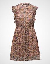 Mango Ruffled Chiffon Dress