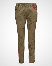 Please Jeans Plain Army Flower