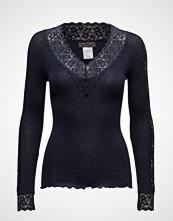 Rosemunde Silk T-Shirt Regular Ls W/ Lace