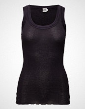 Saint Tropez O-N Rib Top W Wide Straps T-shirts & Tops Sleeveless Blå SAINT TROPEZ
